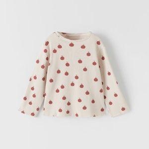 Zara apples structured shirt.